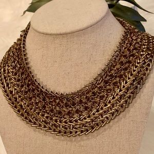 Beautiful Woven Mixed Metal Statement Necklace 🌱